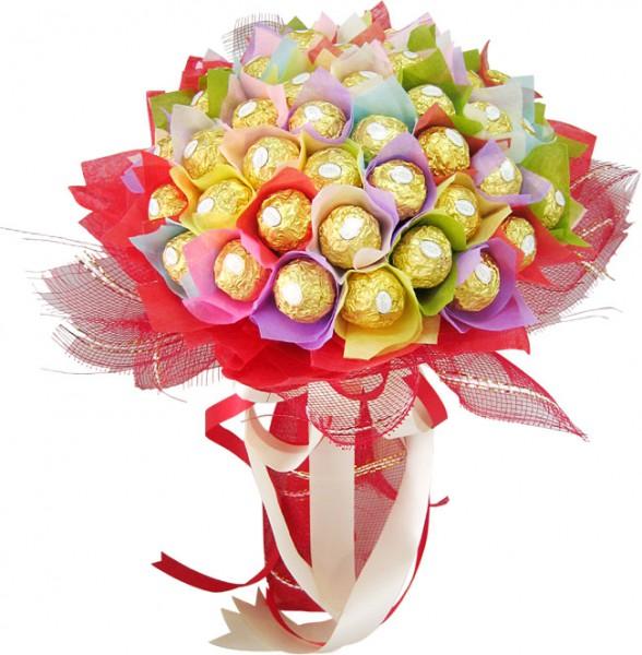 Цветы из конфет композиции 61